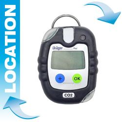 Portable CO2 gas detector rental – Pac® 8000 by Dräger