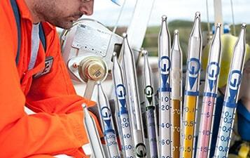 Colorimetric gas detector tubes