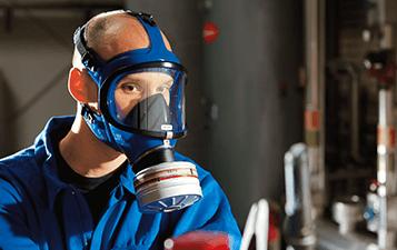 Gas mask respirators