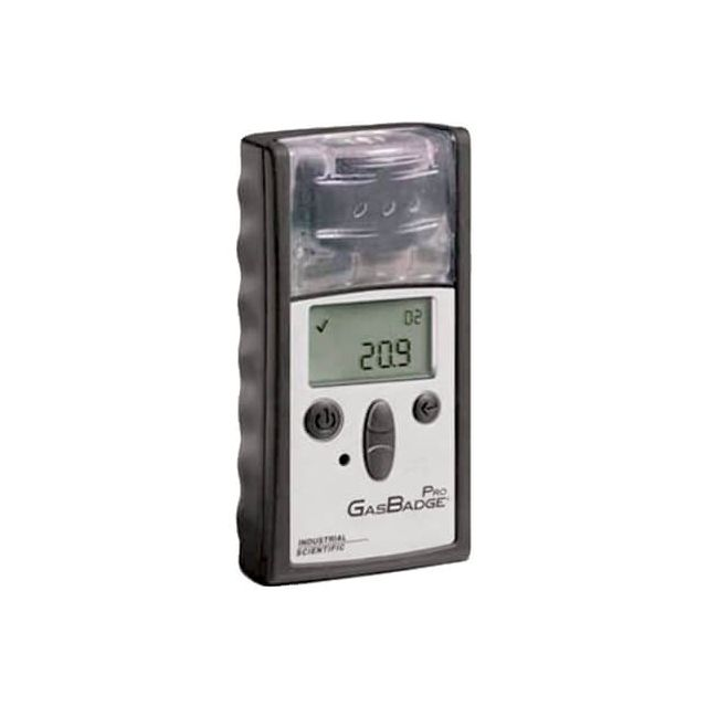 Cl2, CO, H2, H2S, HCN, NH3, NO2, O2, PH3 or SO2 detector Industrial Scientific Gasbadge Pro