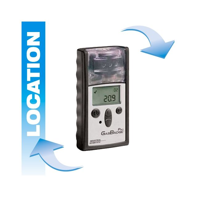 Portable gas detector rental Gasbadge Pro by Industrial Scientific