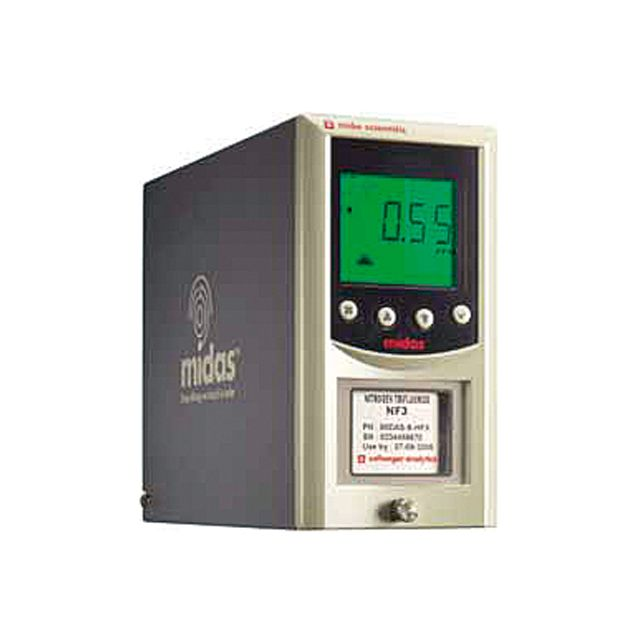 Fixed gas detector with sampling pump and ethernet communication MIDAS by Honeywell, ideal for monitoring toxic gases and for lab works