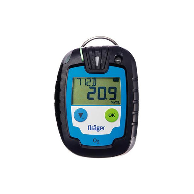 Disposable gas detector for CO, H2S, SO2 or O2 Dräger Pac 6000