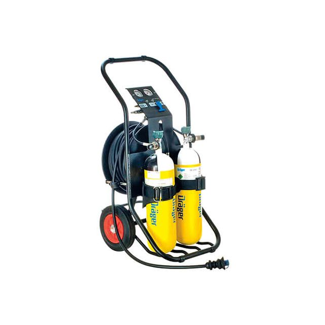 PAS AirPack 1 breathing air cart for supplied air respirator by Drager