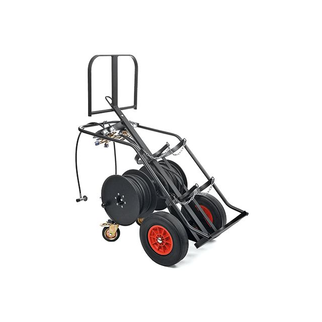 High capacity breathing air cart for supplied air respirator PAS AirPack 2 by Drager
