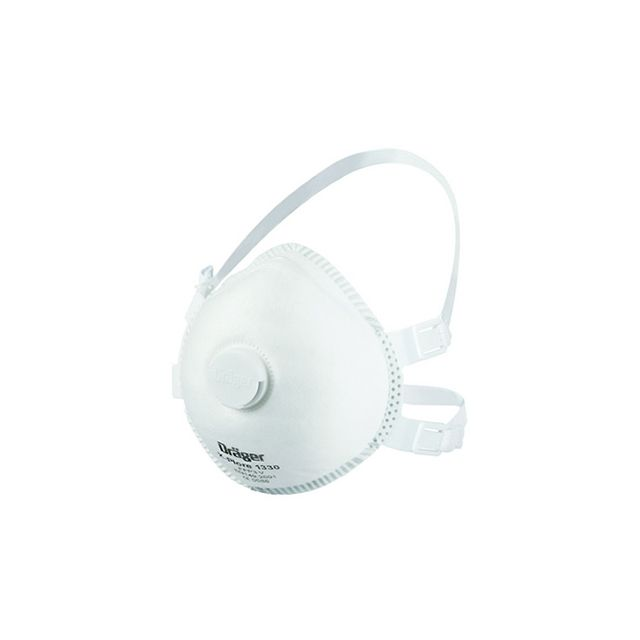 Moulded FFP3 dust mask with valve X-plore 1330 V by Dräger