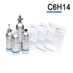 Hexane calibration gas cylinder C6H14 by Air Products